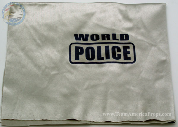 America team. The fabric itself is silver with the 'World Police' logo
