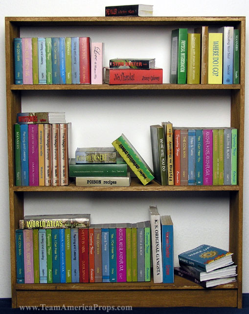 Bookshelf With Books ~ Gary s bookshelf with books from team america world police